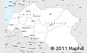Silver Style Simple Map of Louga