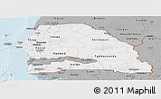 Gray Panoramic Map of Senegal