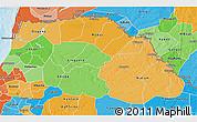 Political Shades 3D Map of Saint Louis
