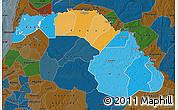 Political Map of Saint Louis, darken