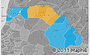 Political Map of Saint Louis, desaturated