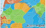 Political Map of Saint Louis, political shades outside