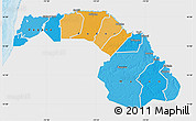 Political Map of Saint Louis, single color outside