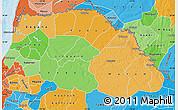Political Shades Map of Saint Louis