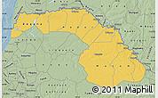 Savanna Style Map of Saint Louis