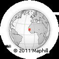 Outline Map of Saint Louis