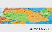 Political Shades Panoramic Map of Saint Louis