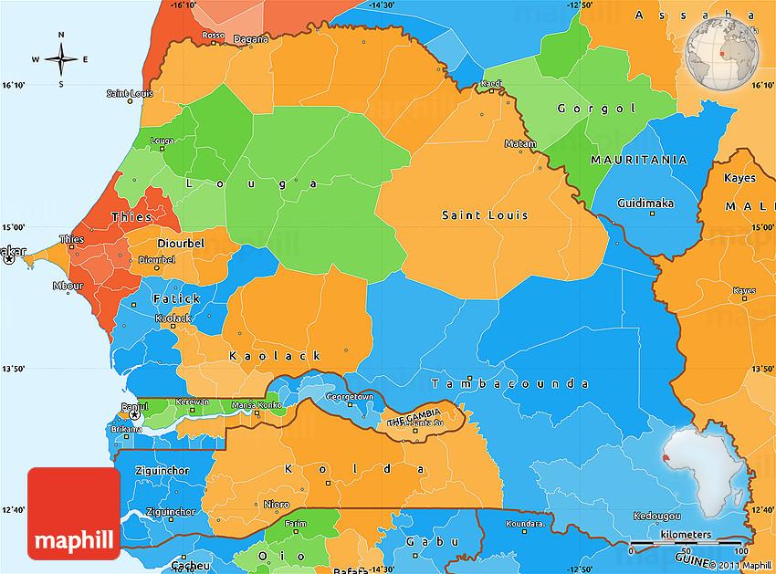 Political Simple Map of Senegal on denmark map, benin map, nepal on map, eritrea map, sudan map, political map, angola map, madagascar map, rwanda map, tanzania map, mozambique map, bangladesh map, gabon map, namibia map, niger map, tunisia map, the gambia map, seychelles map, morocco map, lesotho map, algeria map, ghana map, ethiopia map, zimbabwe map, dakar map, kenya map, malawi map, uganda map, cameroon map, nigeria map, guinea map, turkey map, syria map, mali map, singapore map, africa map,