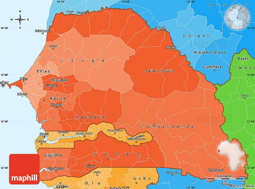 Political Shades Simple Map of Senegal on denmark map, benin map, nepal on map, eritrea map, sudan map, political map, angola map, madagascar map, rwanda map, tanzania map, mozambique map, bangladesh map, gabon map, namibia map, niger map, tunisia map, the gambia map, seychelles map, morocco map, lesotho map, algeria map, ghana map, ethiopia map, zimbabwe map, dakar map, kenya map, malawi map, uganda map, cameroon map, nigeria map, guinea map, turkey map, syria map, mali map, singapore map, africa map,