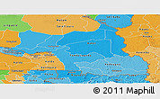 Political Shades Panoramic Map of Tambacounda