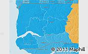 Political Shades 3D Map of Ziguinchor