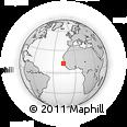 Outline Map of Ziguinchor