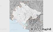 Gray 3D Map of Crna Gora