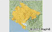 Savanna Style 3D Map of Crna Gora