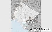 Gray Map of Crna Gora