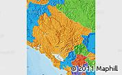Political Map of Crna Gora