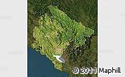 Satellite Map of Crna Gora, darken
