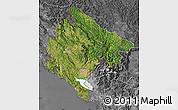 Satellite Map of Crna Gora, desaturated