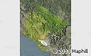 Satellite Map of Crna Gora, semi-desaturated