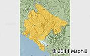 Savanna Style Map of Crna Gora