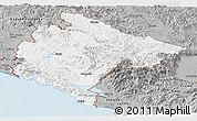 Gray Panoramic Map of Crna Gora