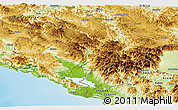 Physical Panoramic Map of Crna Gora