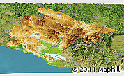 Physical Panoramic Map of Crna Gora, satellite outside