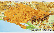 Political Panoramic Map of Crna Gora, physical outside
