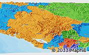 Political Panoramic Map of Crna Gora