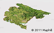 Satellite Panoramic Map of Crna Gora, cropped outside