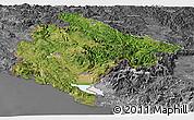 Satellite Panoramic Map of Crna Gora, desaturated