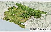Satellite Panoramic Map of Crna Gora, lighten
