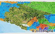 Satellite Panoramic Map of Crna Gora, political outside
