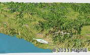 Satellite Panoramic Map of Crna Gora