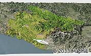 Satellite Panoramic Map of Crna Gora, semi-desaturated