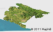 Satellite Panoramic Map of Crna Gora, single color outside