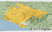 Savanna Style Panoramic Map of Crna Gora