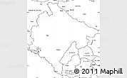 Blank Simple Map of Crna Gora