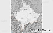 Gray Map of Kosovo
