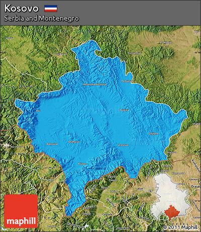 Free Political Map Of Kosovo Satellite Outside - Kosovo map