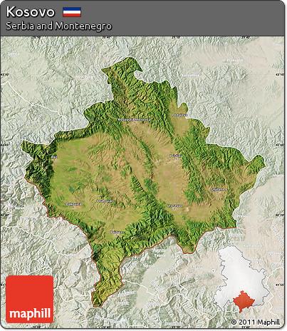 Free Satellite Map Of Kosovo Lighten - Kosovo map hd pdf