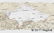 Classic Style Panoramic Map of Kosovo