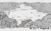 Gray Panoramic Map of Kosovo