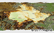 Physical Panoramic Map of Kosovo, darken