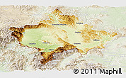 Physical Panoramic Map of Kosovo, lighten