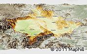 Physical Panoramic Map of Kosovo, semi-desaturated