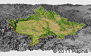 Satellite Panoramic Map of Kosovo, desaturated