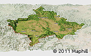 Satellite Panoramic Map of Kosovo, lighten