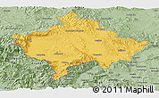 Savanna Style Panoramic Map of Kosovo