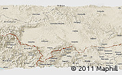 Shaded Relief Panoramic Map of Kosovo